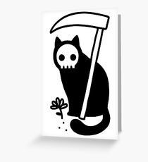 Grim Kitty Greeting Card