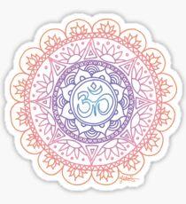Peaceful Ohm Mandala Design Sticker