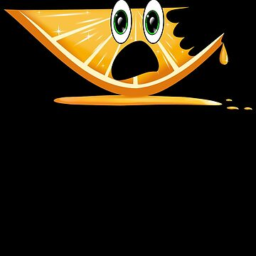 Funny Cartoon Orange Slice Shirt by SirKyanite