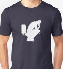 The Thinker (white) Unisex T-Shirt