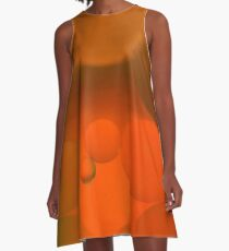 Color in Oil and WAter A-Line Dress