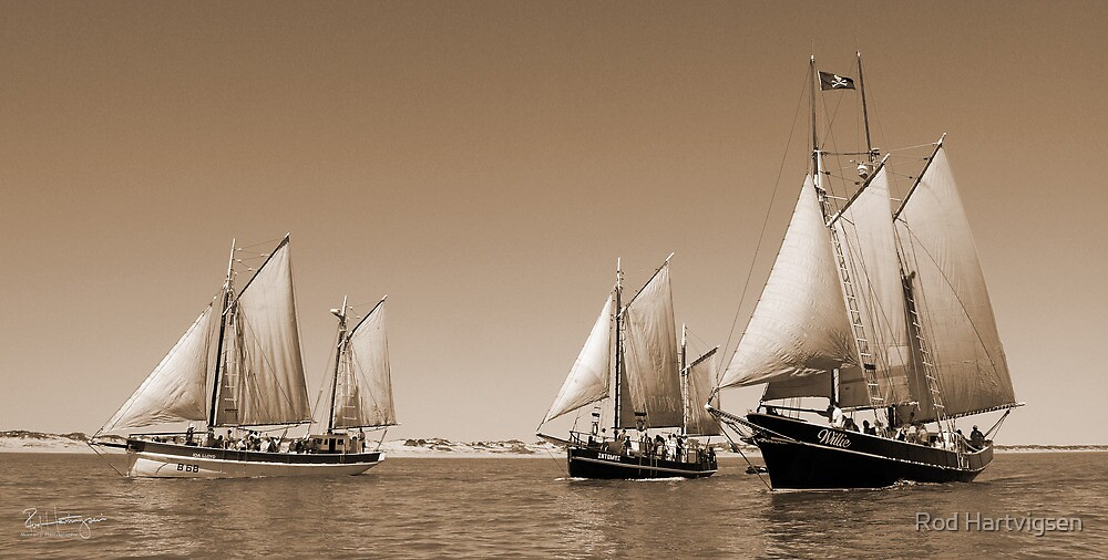 Pearling Luggers in Broome by Rod Hartvigsen