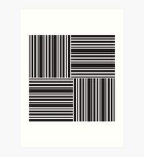 Stripes Elixir: Black and White Hollywood Inspired Art Print