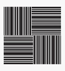 Stripes Elixir: Black and White Hollywood Inspired Photographic Print