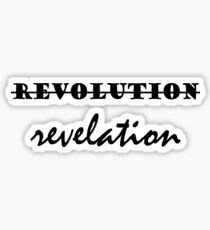 Revolution verse revelation - Hamilton inspired Sticker