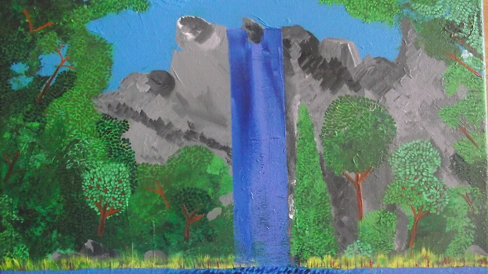 waterfall/trees by Simart76