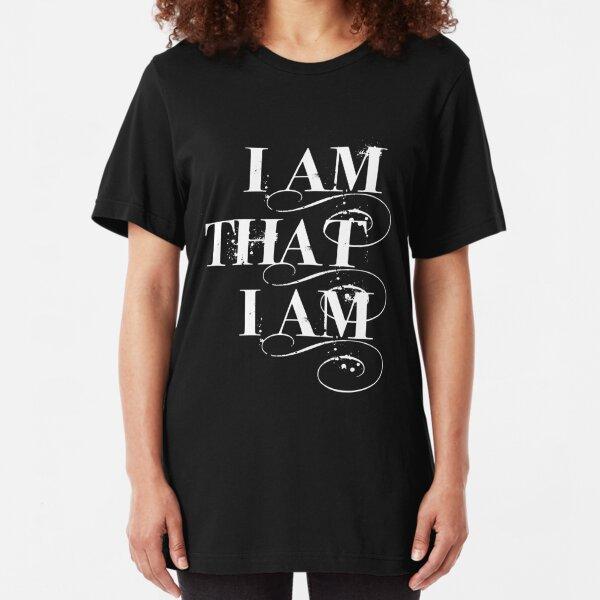 I Am That I Am - WHITE Slim Fit T-Shirt