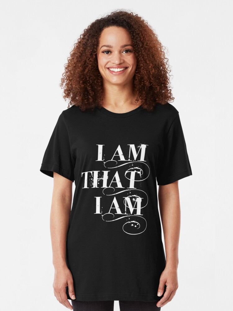 Alternate view of I Am That I Am - WHITE Slim Fit T-Shirt