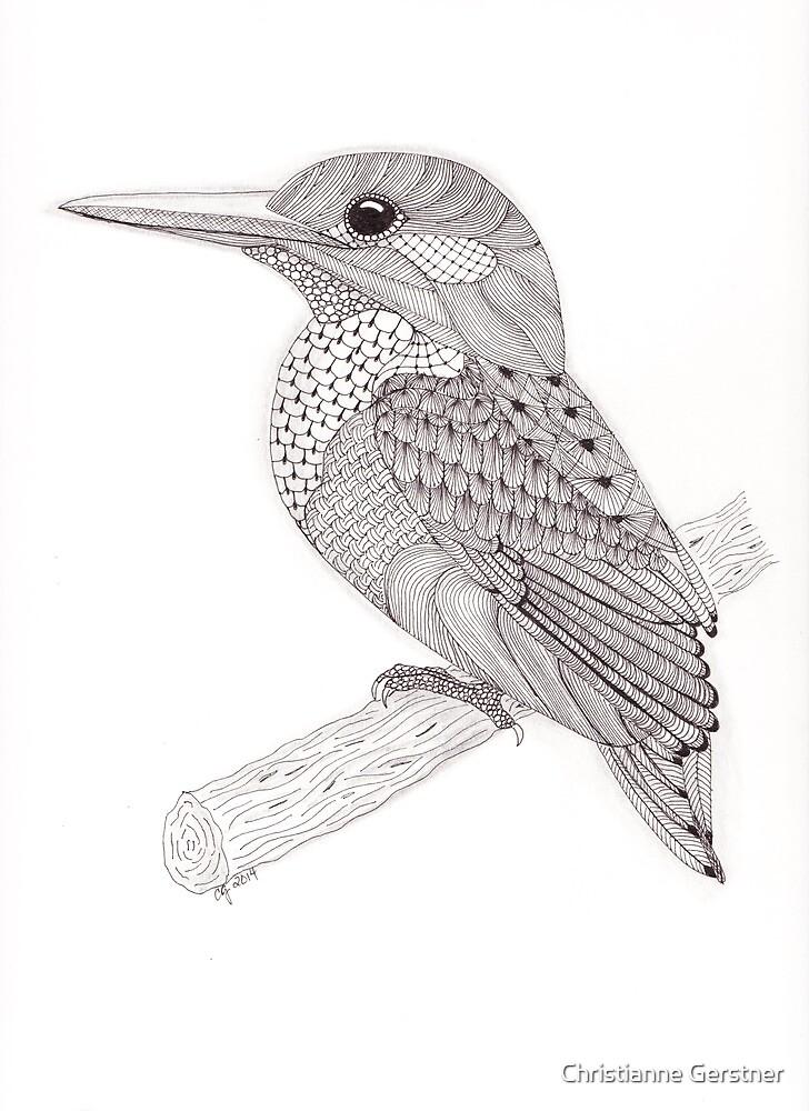 Tangled Kingfisher by Christianne Gerstner