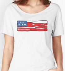 Bacon Flag Women's Relaxed Fit T-Shirt