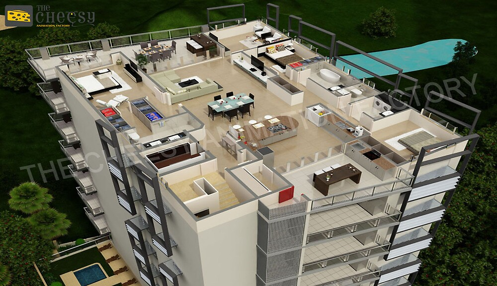 3D Floor Plan by cheesy1