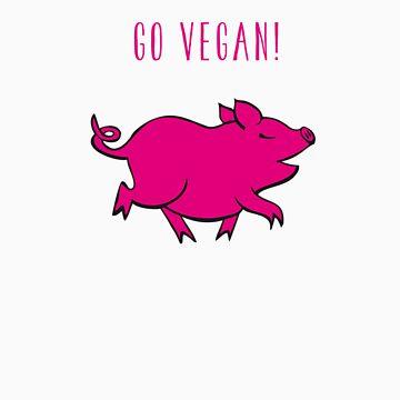 Happy Pig by hennavegh