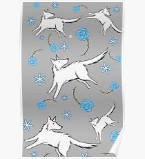 Wolves & Winter Roses Poster