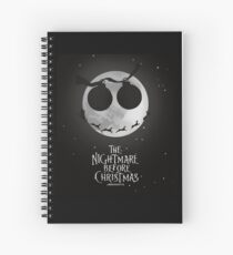 The Nightmare Before Christmas Design Spiral Notebook