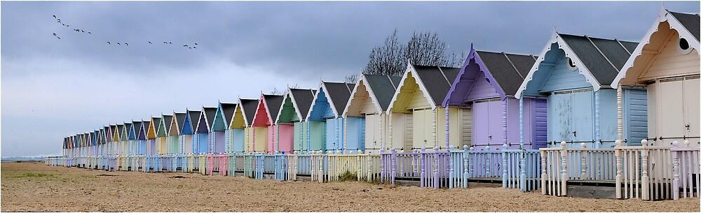 Beach Huts by cybarev