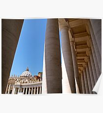 The Colonnade of Saint Peter's Square Poster