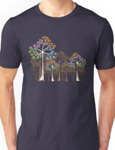 Colorful Four Seasons Trees Unisex T-Shirt
