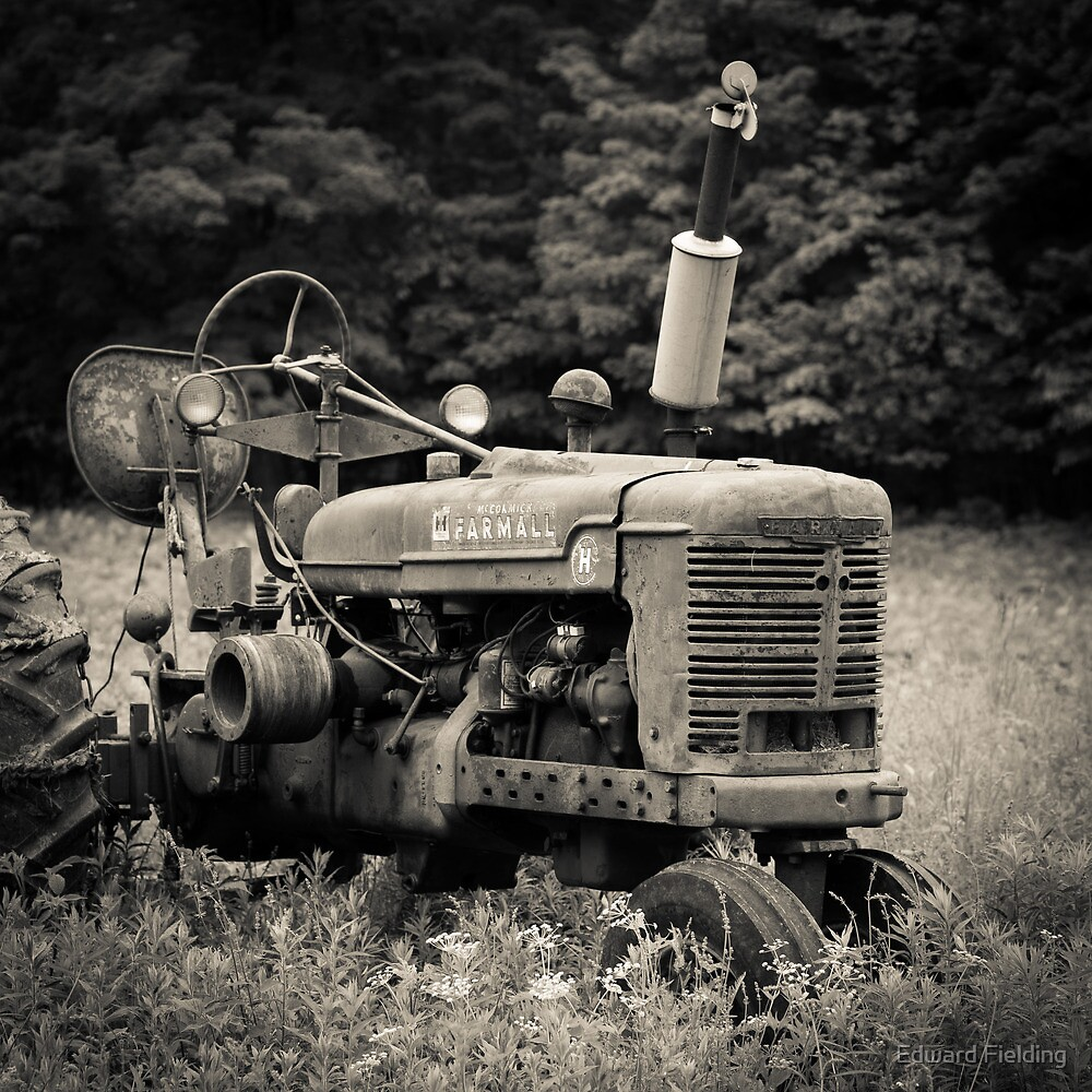 Old Vintage Tractor by Edward Fielding