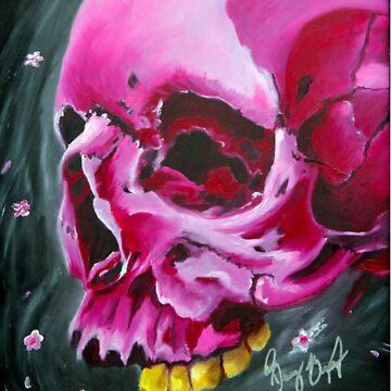 Pink skull by Iroek