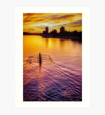 Rowing for Gold Art Print