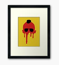 Taxi Driver, Travis Bickle Silhouette Framed Print