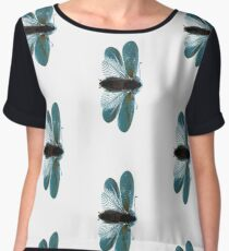 Blue Moth Chiffon Top