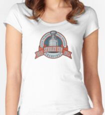 Back to Back Full Season Champions - Retro (Stitched) Women's Fitted Scoop T-Shirt