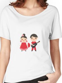 Flamenco boy and girl 3 Women's Relaxed Fit T-Shirt