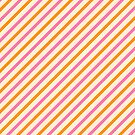 Stripes Diagonal Orange Pink Peach Simple Modern by Beverly Claire Kaiya