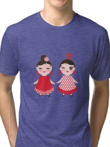Flamenco girls Tri-blend T-Shirt