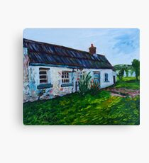 'Parkmount Cottage, Townland of Ballyharry, Islandmagee, (the Place Where my Grandfather Died).' Canvas Print