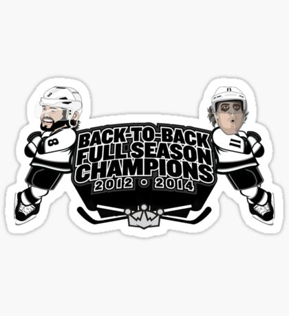 Back to Back Full Season Champions - Cartoon Sticker