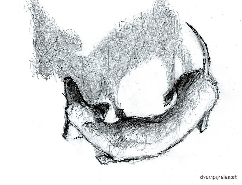 Dachshund Lovers - Doxie Sketch Shadow by dvampyrelestat