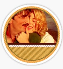 Couple, Paris, Texas Sticker