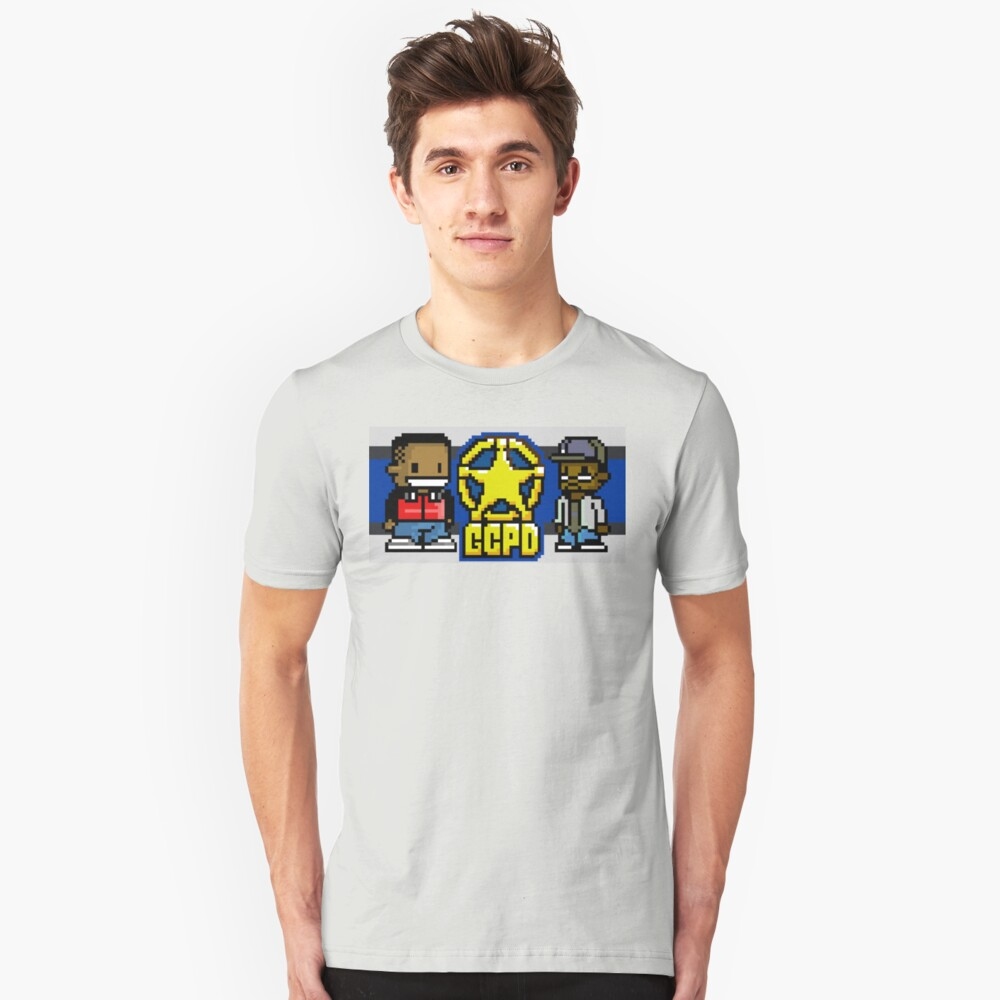 8-Bit Bros Without Borders Unisex T-Shirt Front
