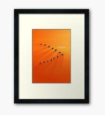 Bird Formation - Teamwork Framed Print