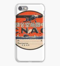 Vintage CNAC Luggage Label iPhone Case/Skin