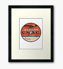 Vintage CNAC Luggage Label Framed Print