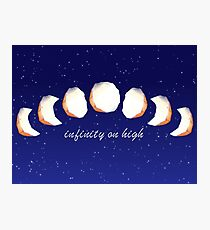 Infinity Moon Phases Photographic Print