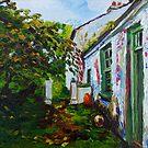 Garden Path, Rear of Former Abandoned Clachan, Ballyharry, Islandmagee, County Antrim. by Laura Butler