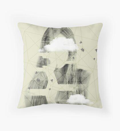 Facet Sky Throw Pillow
