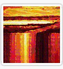 Waterfall at Sunset Sticker