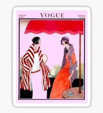 Vogue Vintage 1922 Magazine Advertising Print Sticker