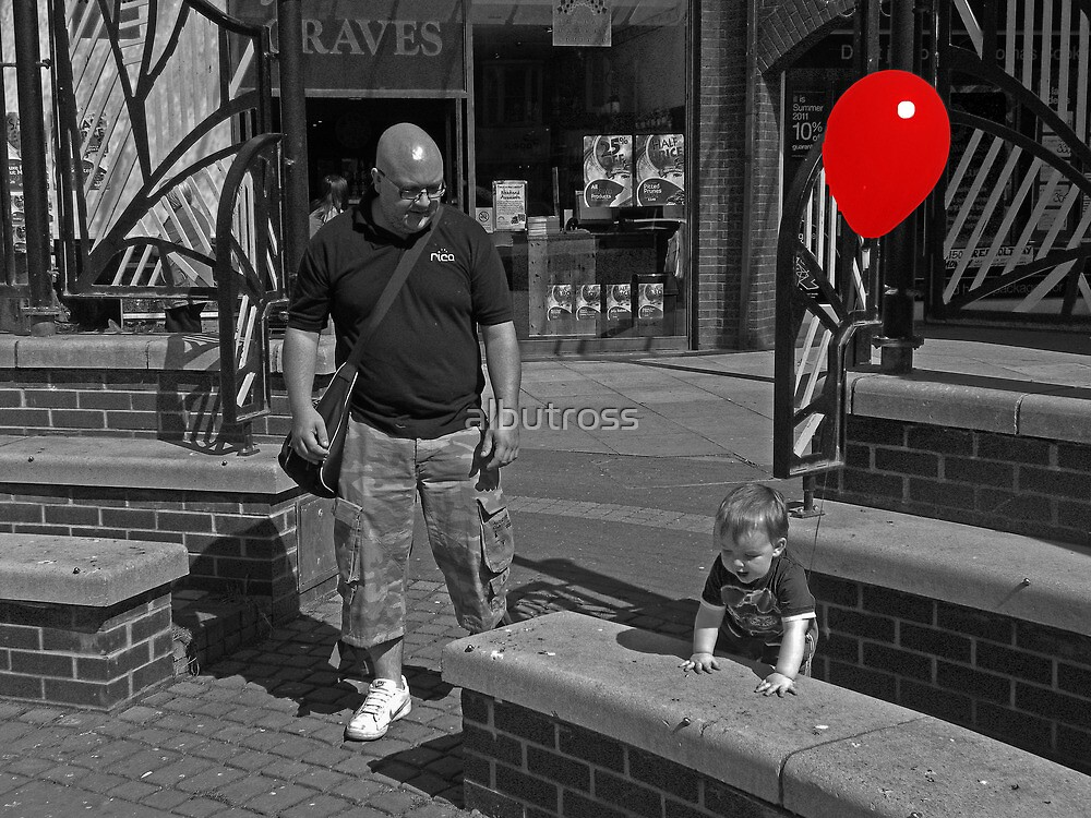 The Boy with the Red Balloon.  by albutross