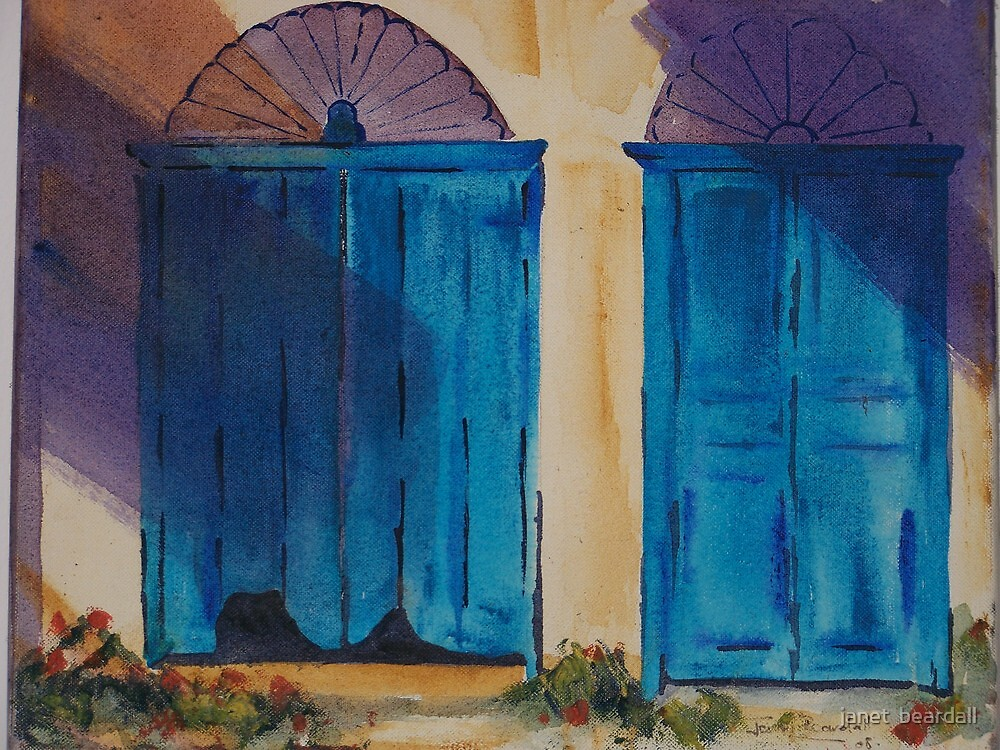blue doors by janet  beardall