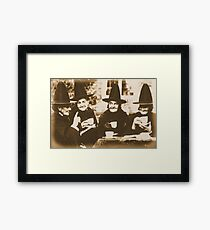 Witches Tea Party - sepia Framed Print