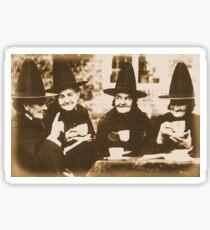 Witches Tea Party - sepia Sticker