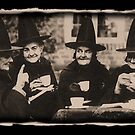 Witches Tea Party - old black/white by Bela-Manson