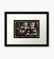 Witches Tea Party - old black / white Framed Print