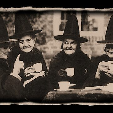 Witches Tea Party - old black / white by Bela-Manson